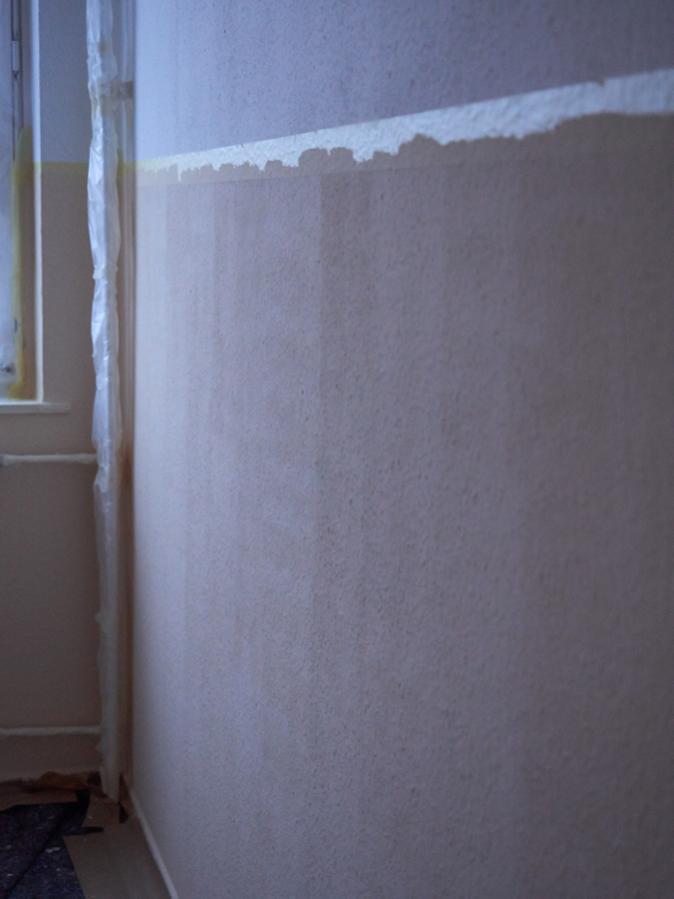 plötzlich Streifen auf gestrichener Wand