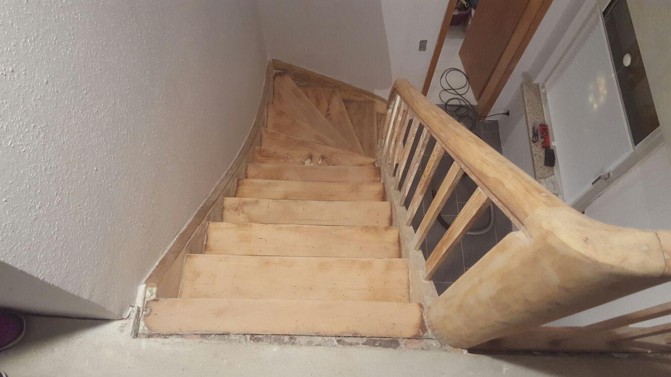 Fußboden Um 2 Cm Erhöhen ~ Treppenende letzte stufe