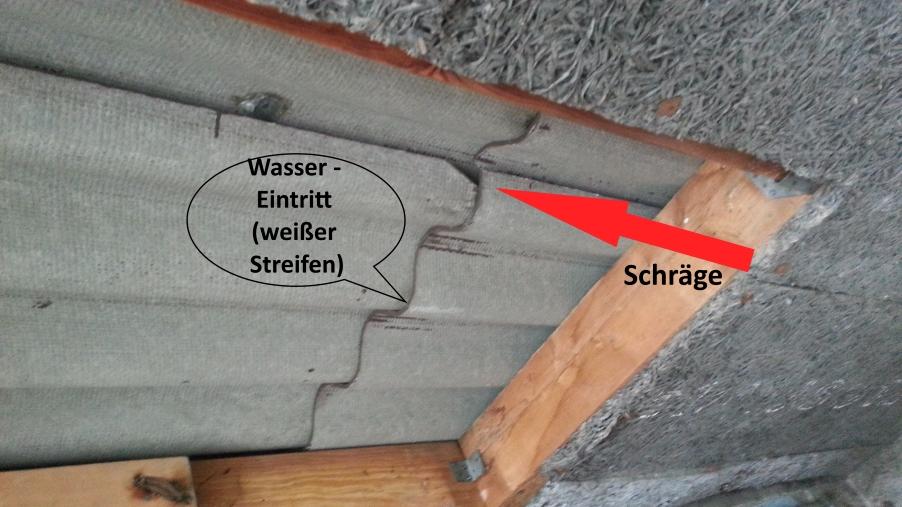 Relativ Neues Eternit Welldach ! Trotzdem undicht ! WK81