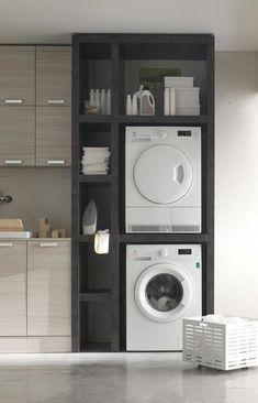 Waschmaschinen Trockner Schrank Bauen