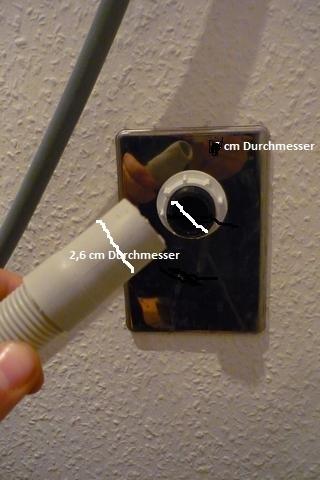 waschmaschine abfluss adapter
