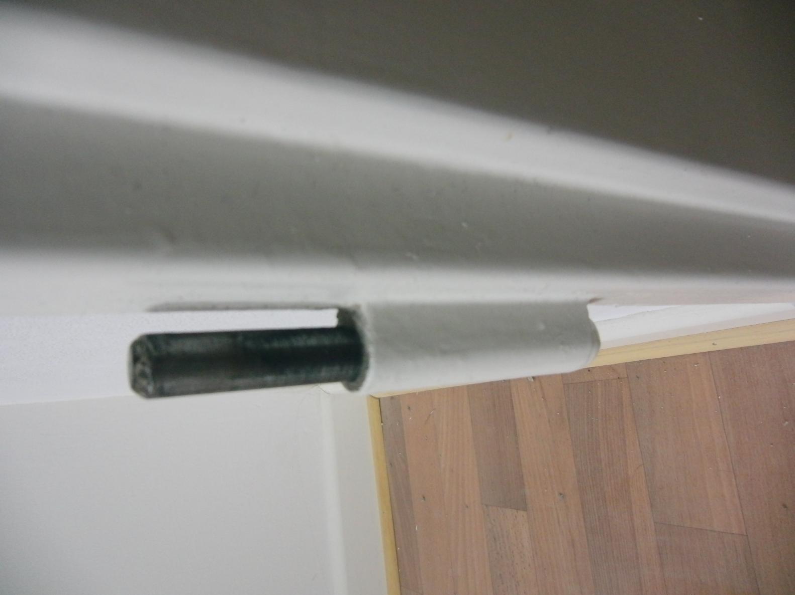 Blindabdeckung für Zimmertür Band - oder Zimmertürband ausbauen