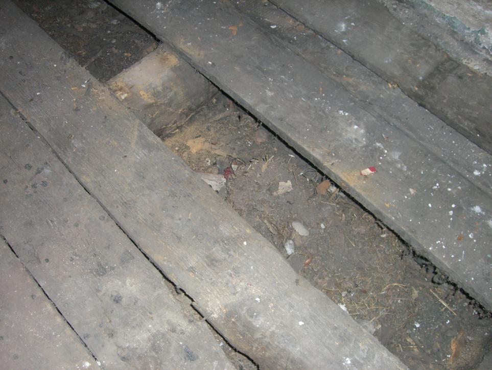 Altbau 1910 Holzbalkenzwischendecke Bodenaufbau