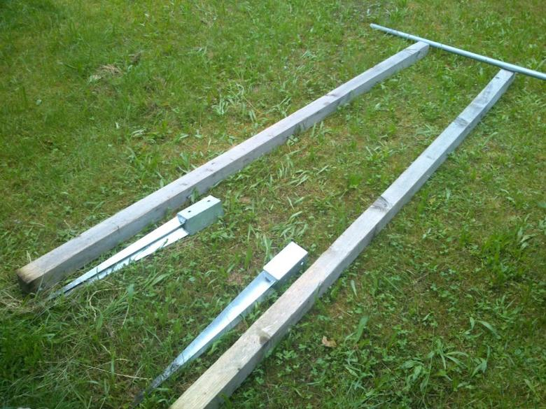 Beliebt Klimmzugstange im Garten - Möglichst einfache & günstige Konstruktion XN94