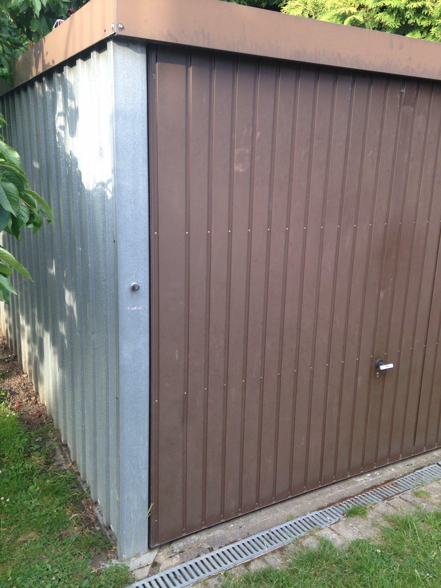 Blech Garage Dicht Machen