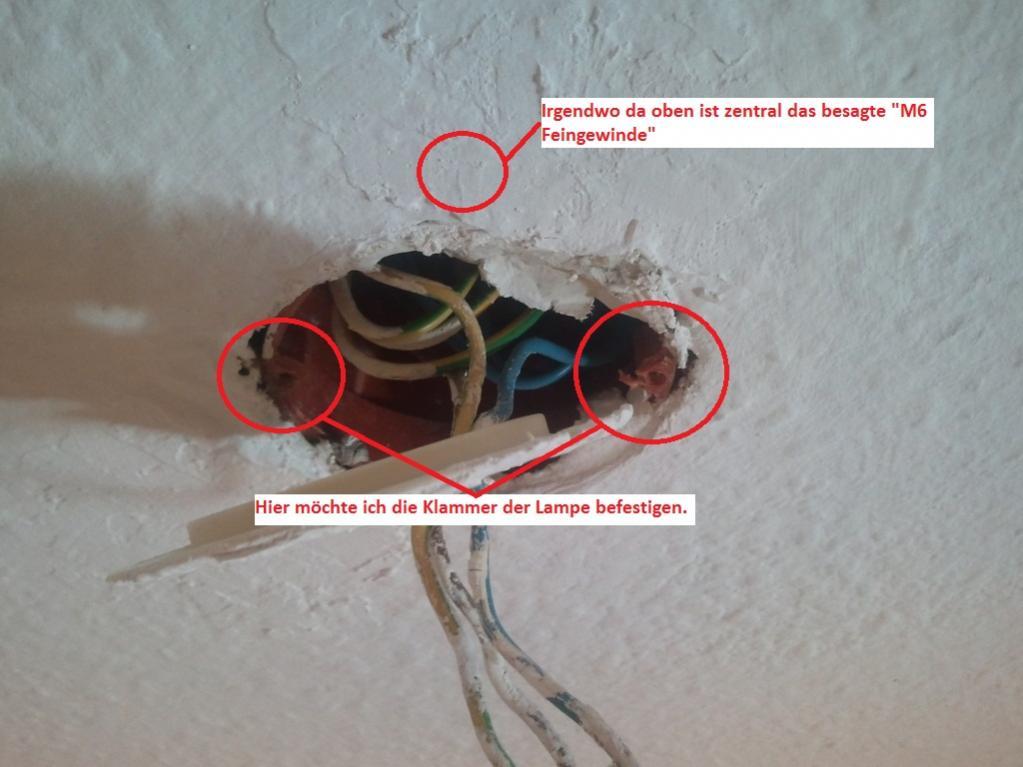 Lampe Direkt An Deckentasse Aufhängen