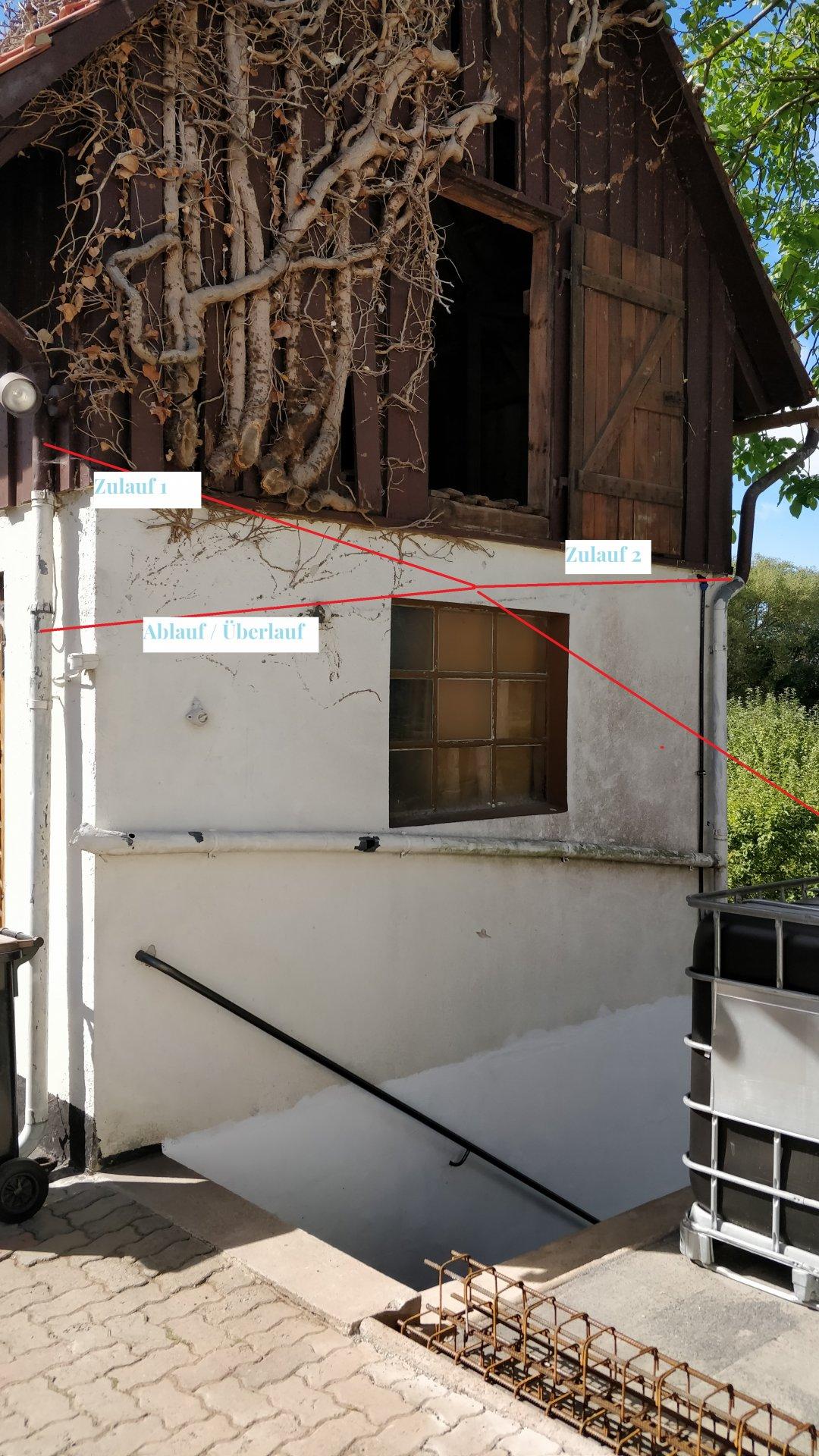 Häufig Regenwasser auffangen - Rohrplanung TO93