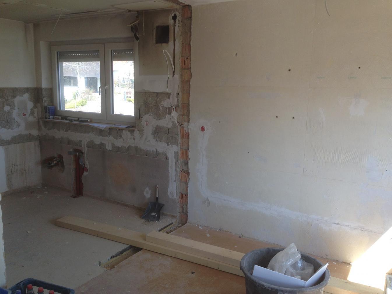 Beeindruckend Durchbruch Wand Das Beste Von Links Die Küche Mit Zement Indem Die