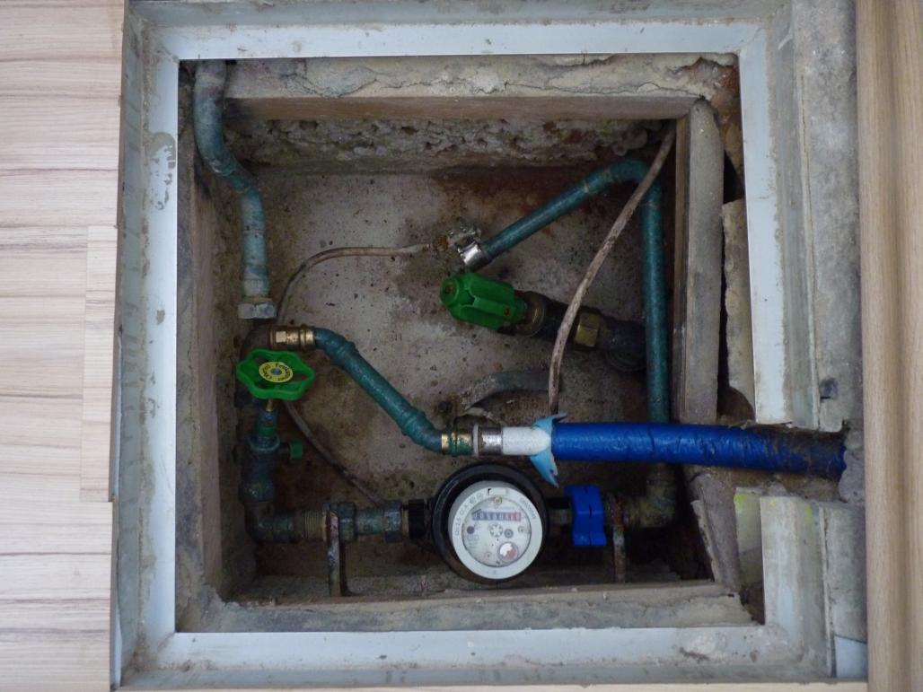 Wasserzuleitung im Innenraum