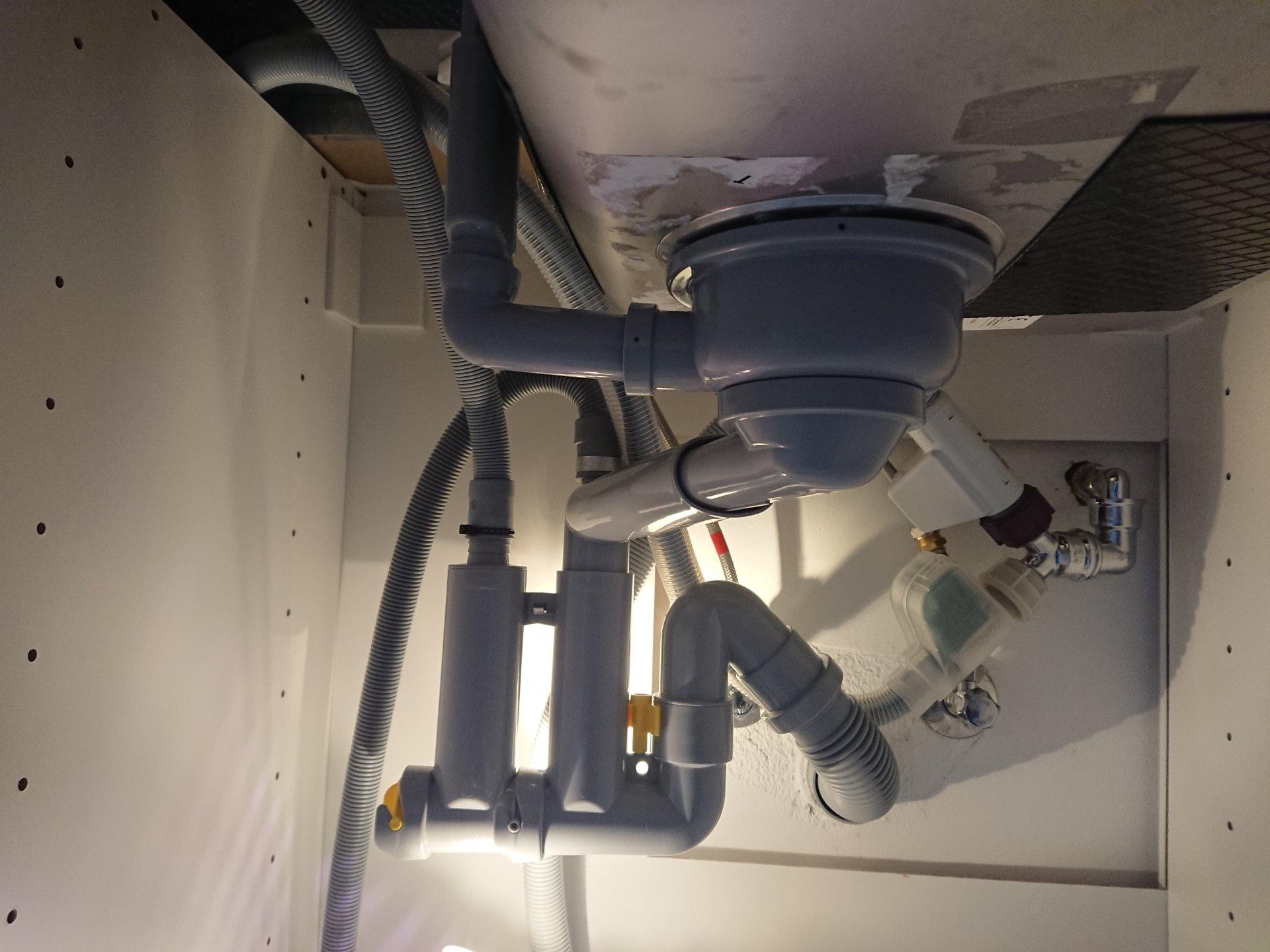 Ikea Siphon Lillviken Mit Wama Und Gs Druckt Wasser Ins Spulbecken