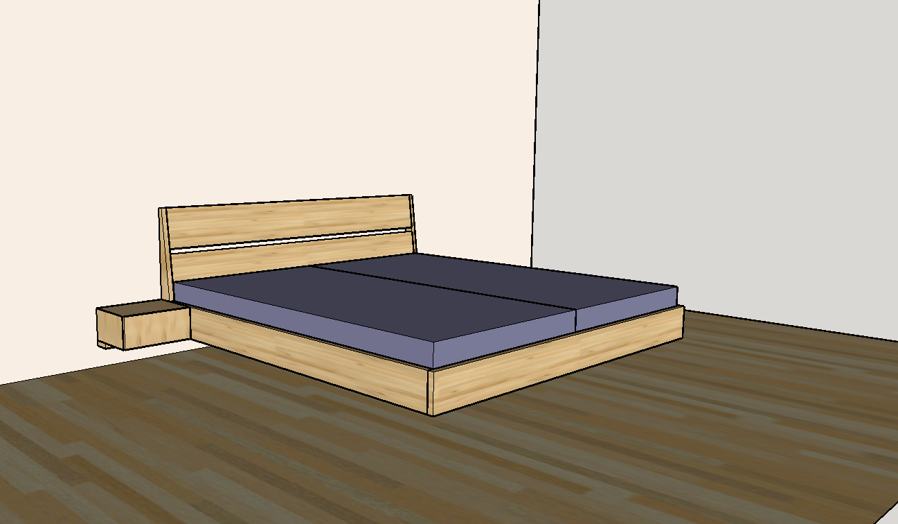 Schwebendes Bett Bauen