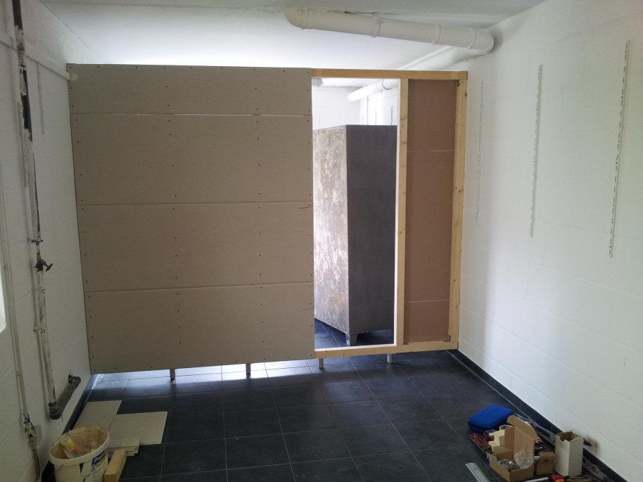 Konstruktionstipp Fur Schwebende Abtrennwand In Garage