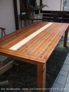 Mein Selbst Gebauter Tisch Fur Den Balkon