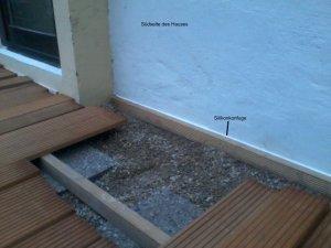 Terrassen Unterkonstruktion Fest An Die Hausfassade