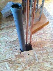 halterung f r wasserleitungen aus dem boden. Black Bedroom Furniture Sets. Home Design Ideas