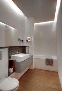 indirekte beleuchtung bei abgeh ngter decke paneele. Black Bedroom Furniture Sets. Home Design Ideas